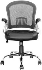 Workspace Office Chair with Leatherette and Mesh