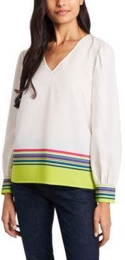 Eliza Stripe Blouse, Created for Macy's