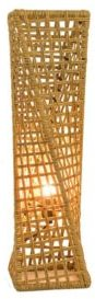 """Phuket 27"""" Unique Handcrafted Twist Rattan Table Lamp"""