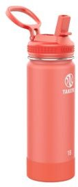Actives Stainless Steel 18-Oz. Insulated Water Bottle with Straw Lid