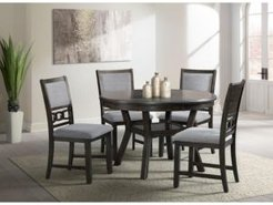 """Taylor Dining 5-Pc Set (47"""" x 30"""" Round Dining table, & 4 Side Chairs)"""