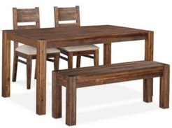 """Avondale 4-Pc. Dining Room Set, Created for Macy's, (60"""" Table, Bench & 2 Side Chairs)"""