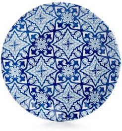 "Talavera Azul Collection Melamine 5.5"" Appetizer Plate, Set of 4"