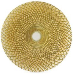 Jay Import American Atelier Glass Spiro Gold-Tone Charger Plate