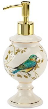Bath Accessories, Gilded Birds Soap and Lotion Dispenser Bedding