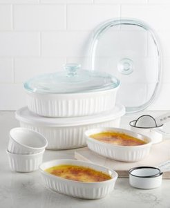 French White 10-Pc. Bakeware Set, Created for Macy's