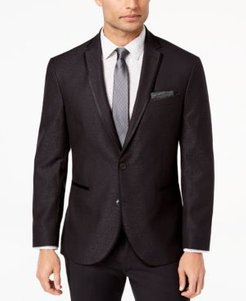 Slim-Fit Stretch Black Jacquard Dinner Jacket, Online Only