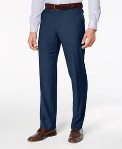 Stretch Straight-Fit Performance Flat Front Dress Pants