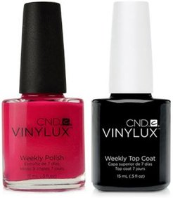 Creative Nail Design Vinylux Pink Leggings Nail Polish & Top Coat (Two Items), 0.5-oz, from Purebeauty Salon & Spa