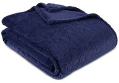 """PrimaLush Pebbles Embossed 60"""" x 90"""" Twin Bed Blanket Bedding"""