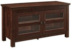 """44"""" Wood Tv Media Stand Storage Console"""
