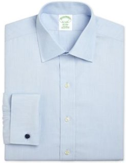 Milano Extra-Slim Fit Non-Iron Broadcloth Solid Light Blue French Cuff Dress Shirt