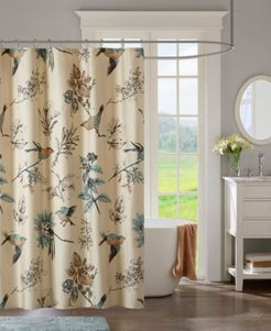 """Quincy 72"""" x 72"""" Printed Cotton Shower Curtain Bedding"""