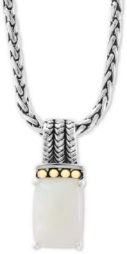 """Effy Opal 18"""" Pendant Necklace (4-1/2 ct. t.w.) in Sterling Silver & 18k Gold"""