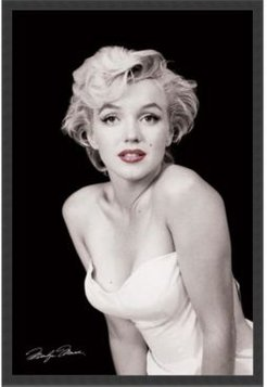 Marilyn Monroe - Red Lips By Milton H. Greene- Framed Art Print
