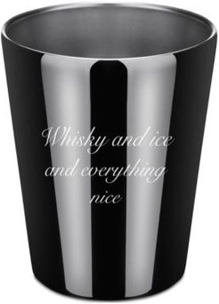 by Cambridge Whiskey and Ice and Everything Nice Stainless Steel Double Old-Fashioned Cup