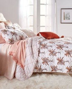 Closeout! Peri Home Palm Tree King Quilt Bedding