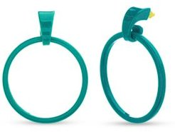 Polished Open Circle Dangle Post Extra Large Earrings