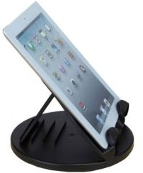 Adjustable Tablet Stand for iPad Mini, iPhone, Kindle, Samsung and Other Tablets, Stand Spins