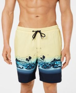 """Tropical Quick-Dry 7"""" Swim Trunks, Created for Macy's"""