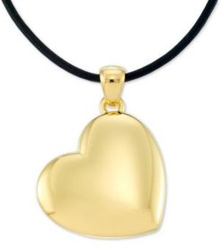 """Diamond Accent Heart 18"""" Pendant Necklace, Created for Macy's"""