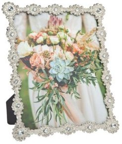 Silver Burst with Diamonds Frame - 8x10