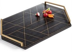 Black & Gold Inlay Tray, Created for Macy's