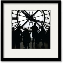 """Large Clock 20"""" x 20"""" Framed and Matted Art"""