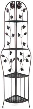 Heather Ann Le Fleur Collection Bud 4-Shelf Corner Baker's Rack