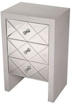 Heather Ann Laurel Mirrored Accent Cabinet with 3 Drawers