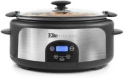 6Qt. Programmable Stainless Steel Slow Cooker with Locking Lid