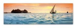 Colossal Images Golden Palms Canvas Art, 18 x 58