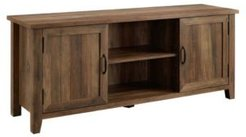 Modern Farmhouse Grooved Door Tv Stand