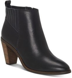 Nesly Heeled Leather Booties Women's Shoes