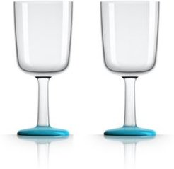 by Palm Tritan Wine Glass with Vivid Blue non-slip base, Set of 2
