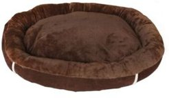 Durable Bolster Sleeper Oval Pet Bed with Removable Reversible Insert Cushion and Additional Two Pillow