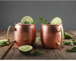 by Cambridge 20 oz Solid Copper Moscow Mule Mugs - Set of 2