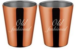 """by Cambridge Copper """"Old Fashioned"""" Double Old Fashion Cups - Set of 2"""