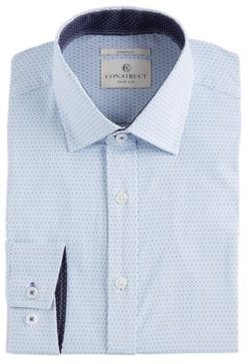 Slim-Fit Performance Stretch Geo-Print Cooling Comfort Dress Shirt, Created for Macy's