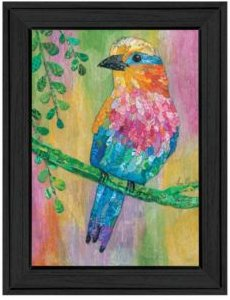 """Lilac Breasted Roller by Lisa Morales, Ready to hang Framed Print, Black Frame, 15"""" x 19"""""""
