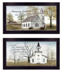"Amazing Grace Collection By Billy Jacobs, Printed Wall Art, Ready to hang, Black Frame, 20"" x 11"""