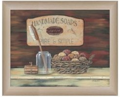 """Handmade Soaps-by Pam Britton, Ready to hang Framed print, Taupe Frame, 17"""" x 14"""""""