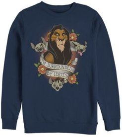 Lion King Scar Surrounded by Idiots Tattoo, Crewneck Fleece