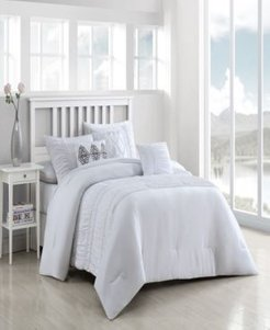 Navier 6-Piece Ruched Queen Bedding Set Bedding