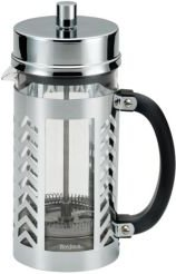 Glass and Stainless Steel Chevron 33.8-Oz. French Press