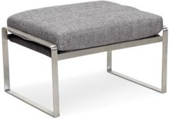 """Closeout! Mattley 26"""" Fabric Steel Frame Ottoman, Created for Macy's"""