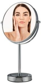 """8"""" Dual Sided Tabletop Magnified Vanity Makeup Mirror"""