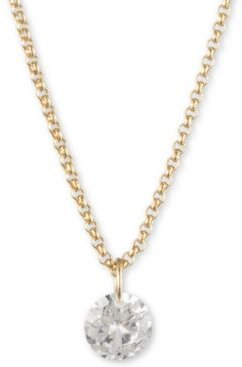 """Gold-Tone Crystal Pendant Necklace, Created for Macy's, 16"""" + 3"""" extender"""