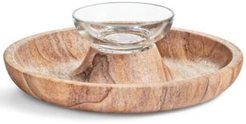 Closeout! Hotel Collection Sandstone Chip & Dip Server, Created for Macy's