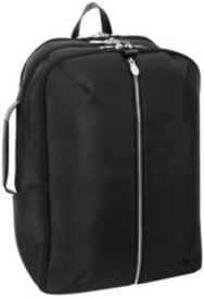 """Englewood 17"""" Nylon Triple Compartment Laptop Tablet Weekend Backpack"""